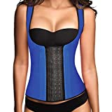 Ann Chery Womens Chaleco Contrast Trim Latex Core Waist Cincher Blue 36