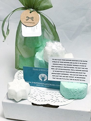Extra Strength Sinus and Headache Relief Shower Soother (5-Pack) - Breathe Easy Blend by Stripped Sugar Scrubs - Bath & Body