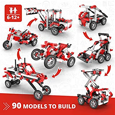 Engino Inventor Toys - 90-in-One |Build 90 Motorized Models | A Mega Creative Stem Engineering Kit | Perfect for Home Learning: Toys & Games