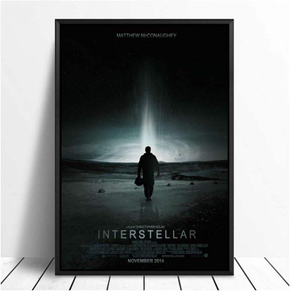 Amazon Com Suuyar Interstellar Artwork Cover Movie Poster Movie Canvas Painting Poster Wall Art Print Kids Decor Home Decor Print On Canvas 50x70cm No Frame Posters Prints