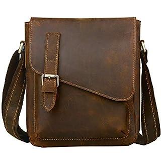 Jack&Chris Handmade Men's Leather Messenger Bag Shoulder Bag Man Purse, NM1866