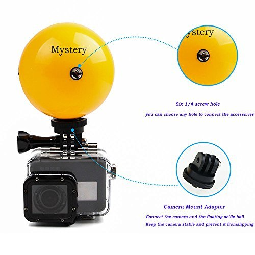 Mystery Floating Monopod Tripod Selfie Stick Buoy Ball & Waterproof Roatable Adjustable Floating Self-timer with Adjustable Wrist-Strap for GoPro Hero 5/4/3/3+/2/1, SJCAM, Xiaomi Yi Action Cameras