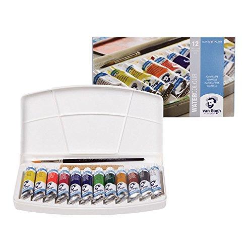 Royal Talens Van Gogh Oil Pastels General Set, 12 Tube Set