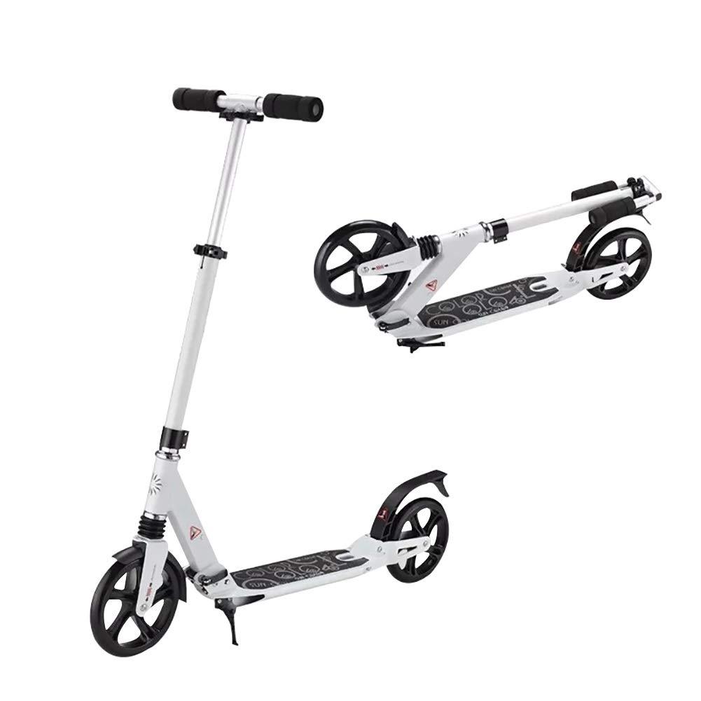 キックスクーター 大人と子供用のスクーター折りたたみキックスクーターローラースクータースクーター-高耐久性ホイール、100 kgをサポート