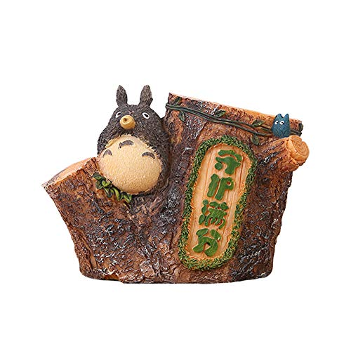 (Lependor Adorable Stump-Shaped My Neighbor Totoro Pen Holder Cute Japanese Animation Pen Container (with Whistle) )