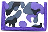 Ladies / Girls Camouflage / Army Style Velcro Wallet / Purse - Purple Swirl