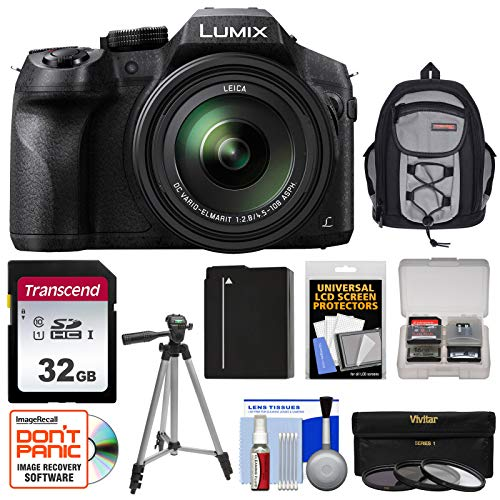 Panasonic Lumix DMC-FZ300 4K Wi-Fi Digital Camera with 32GB Card + Battery...
