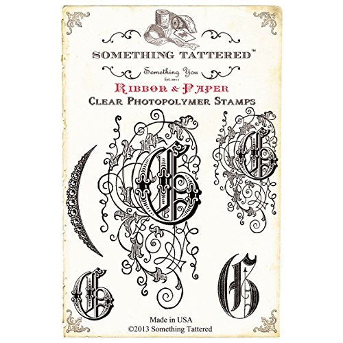 (Something Tattered G Initial Monogram Clear Stamps, 4 by 4-Inch)
