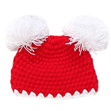 7ea3662abd45 Amazon.com  HCY 1Pcs Lovely Pom Pom Knitted Hat Baby s Winter ...