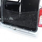 Zone Tech Large Pocket Mesh Storage Net - Black Mesh Large Pocket Trunk Cargo Organizer with 2 Mounting Options