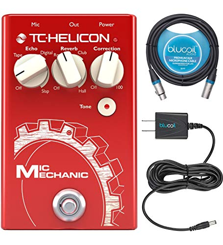 TC Helicon Mic Mechanic 2 Vocal Effects Pedal Bundle with