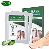 Aloe Exfoliating Foot Peeling Mask 2 Pairs Scented Peel Booties for Callus Dead Skin, Get Soft Touch Smooth Feet in 1 Week