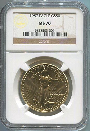 1987 See Pic $50 Gold $50 Gold Eagle MS70 NGC