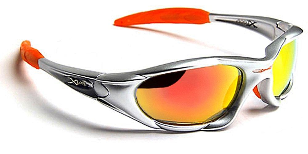 X-Loop Occhiali da Sole Sport - Ciclismo - Sci - Condotta - Moto - Tennis - Spiaggia - Moda / 010P Grigio Arancione Xloop XL010P08