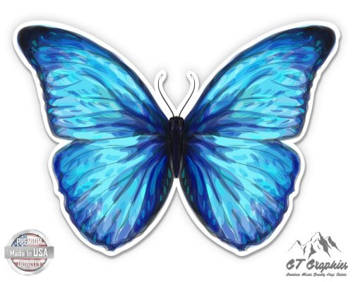 GT Graphics Blue Morpho Butterfly Beautiful - 3