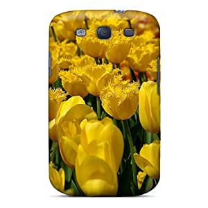SPetry Design High Quality Field Yellow Tulips Cover Case With Excellent Style For Galaxy S3