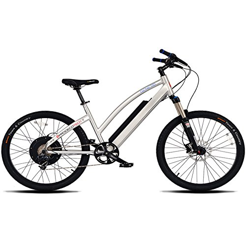 ProdecoTech Genesis V5 36V600W 8 Speed Electric Bicycle 14Ah Samsung Li Ion, Brushed Aluminum, 18