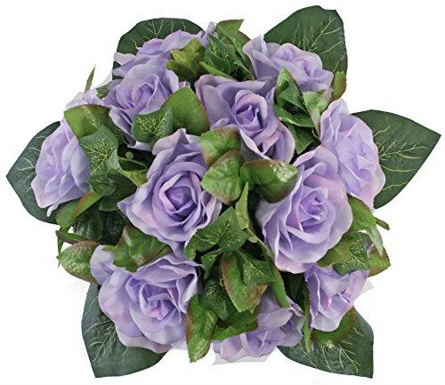 Lavender Silk Rose Nosegay - Silk Bridal Wedding Bouquet