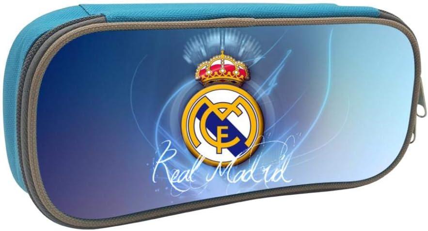 Real Madrid F.C. - Estuche escolar para estudiantes y niños, azul, ONE_SIZE: Amazon.es: Amazon.es