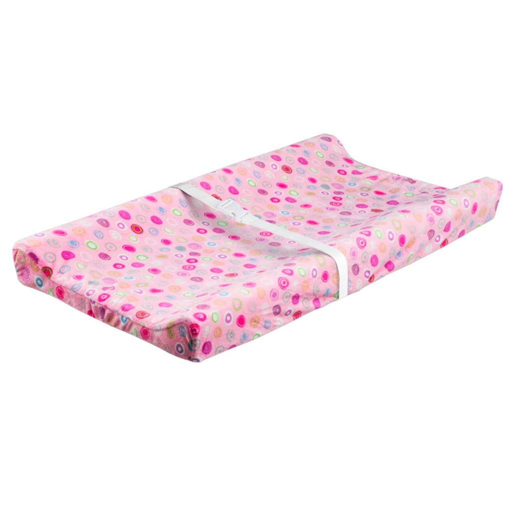 Baby Changing Mats Wedge Large for Girls Boys/Changing Mat Cover with Raised Edges/Changing Nappy Mattress, Cushioned with Machine Washable Cover by LAMXF