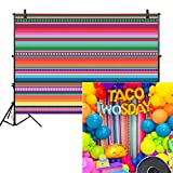 Allenjoy 7x5ft Color Fiesta Theme Party Stripes Backdrop Cinco De Mayo Mexican Festival Photography Background Cactus Banner Decoration Event Table Decor Banner Background Children Photo Booth Shoot