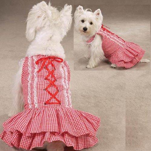 Southern Belle Dog Dress - Z & Z Southern Belle Dress Xxsm Red