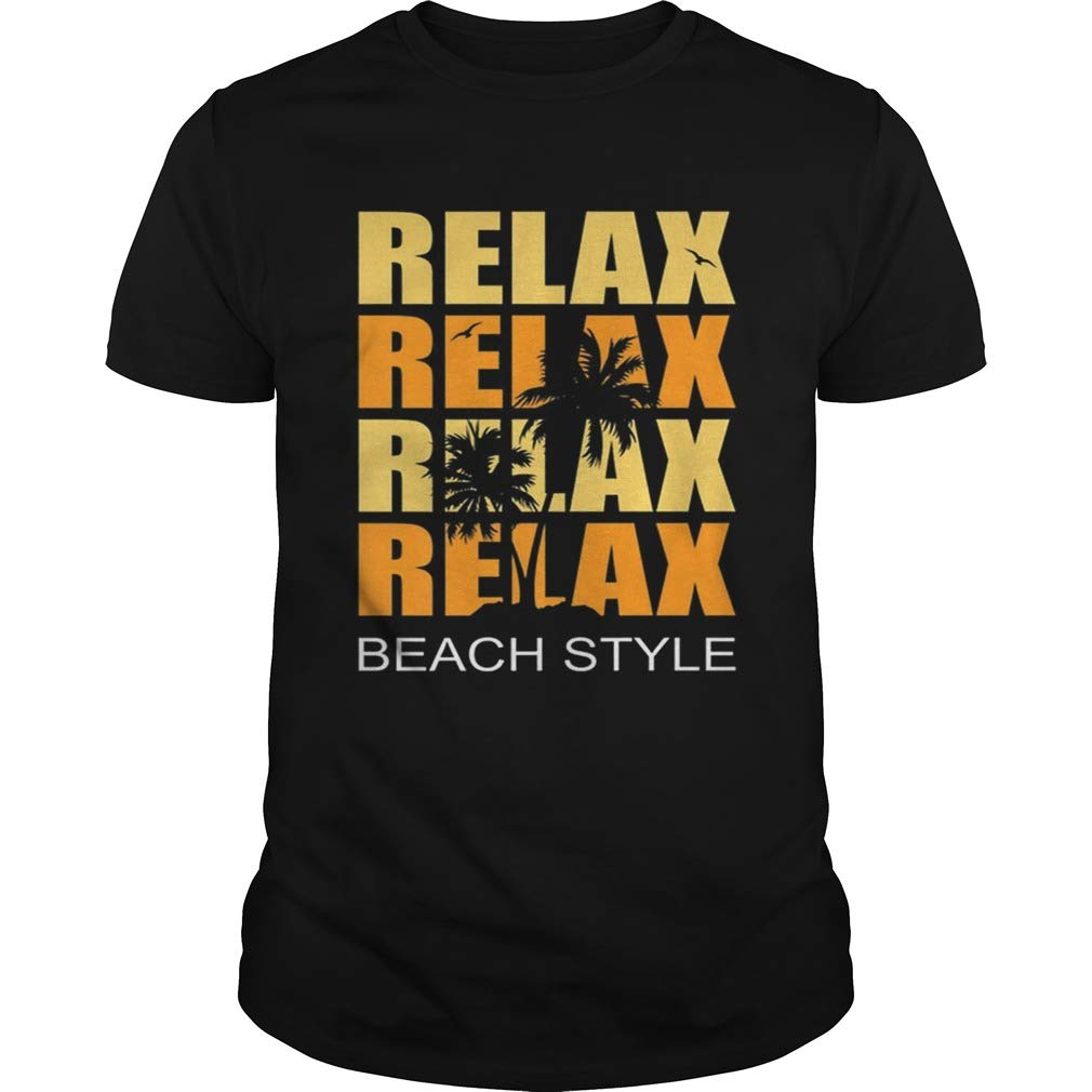 Cute Relax Sunset Beach Vacation Palm Tree Holiday Shirts