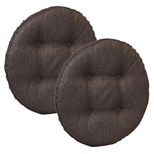 Bar Stool Cushion - Klear Vu Omega Barstool Cushion, 2 Pack, Chestnut