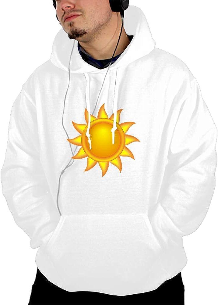 Mens Novelty Cool Sun Hoodies Cozy Sport Outwear