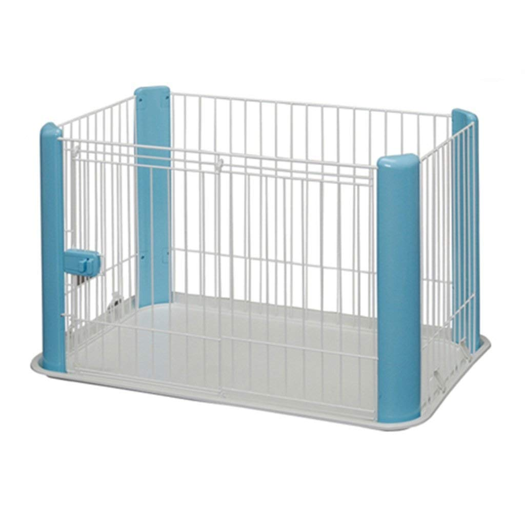 bluee KXBYMX-11 Dog cage small and medium dog fence portable white baby fence with door activity center indoor outdoor travel Safety fence (color   bluee)