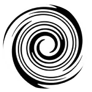 alfombrilla de ratón Espiral negra - ronda - 20cm