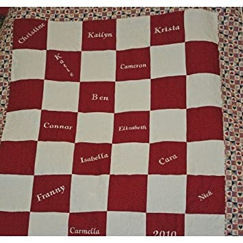 Amazon.com: Red and White Checkered Quilt : red and white checkered quilt - Adamdwight.com