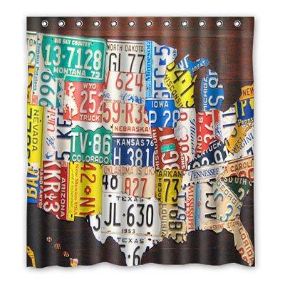 Dalliy placa Disfraz cortina de la ducha Shower Curtain 167 cm x ...