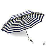 MsMr Umbrella The Navy Pattern Foldable UV Protection Umbrella Rain Auto Umbrella Easy Touch Umbrella