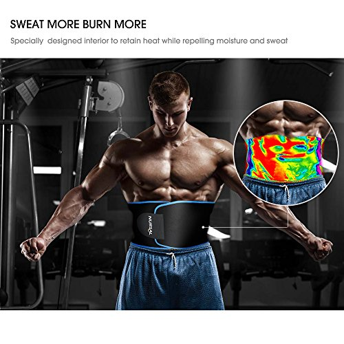 NURSAL Waist Trimmer for Weight Loss Workout Sw...
