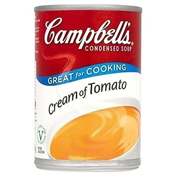 Campbells Crema De Tomate Condensada Sopa 295g (Paquete de ...