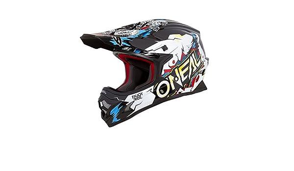 Gr/ö/ße M ONeal 3Series Villain Kinder Motocross Helm Enduro Quad Cross Offroad FMX Freestyle ABS 0623-V1