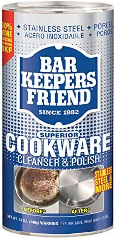 Multi-Surface Cleaner: Bar Keepers Friend Cookware