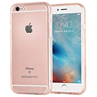 Korecase Apple iPhone 6S 6 4.7 Inch Transparent Case Bumper Cover Slim and Anti-Scratch Clear Back for iPhone 6/6S - Pink