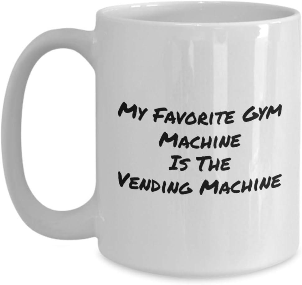 Mi máquina de gimnasio favorita es la máquina expendedora Tazas y tazas de café divertidas