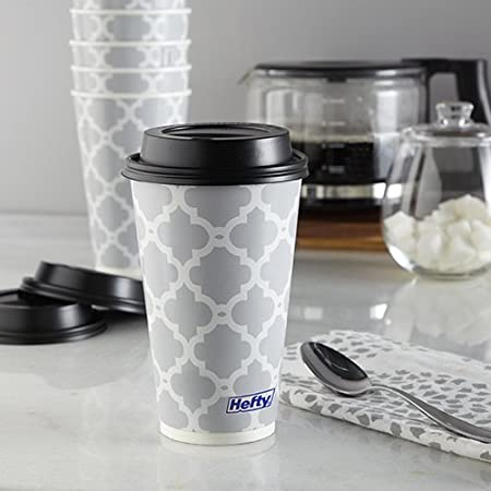 16 Ounce, 20 Count Hefty Hot Cups and Lids Reynolds Consumer Products
