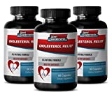 Product review for Lower cholesterol - CHOLESTEROL RELIEF - Arterial support - 3 Bottles 120 Capsules
