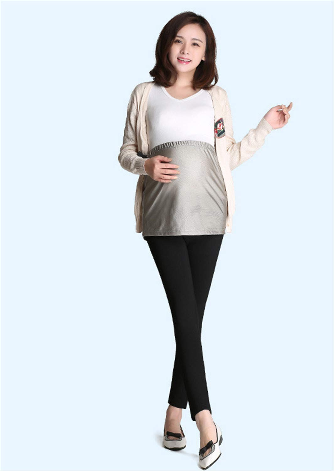 Radiation Predection Apron for Pregnant,Radiation Predection Suit Maternity Wear AntiRadiation Apron Wearing Silver Fiber Sling, Four Seasons to Wear