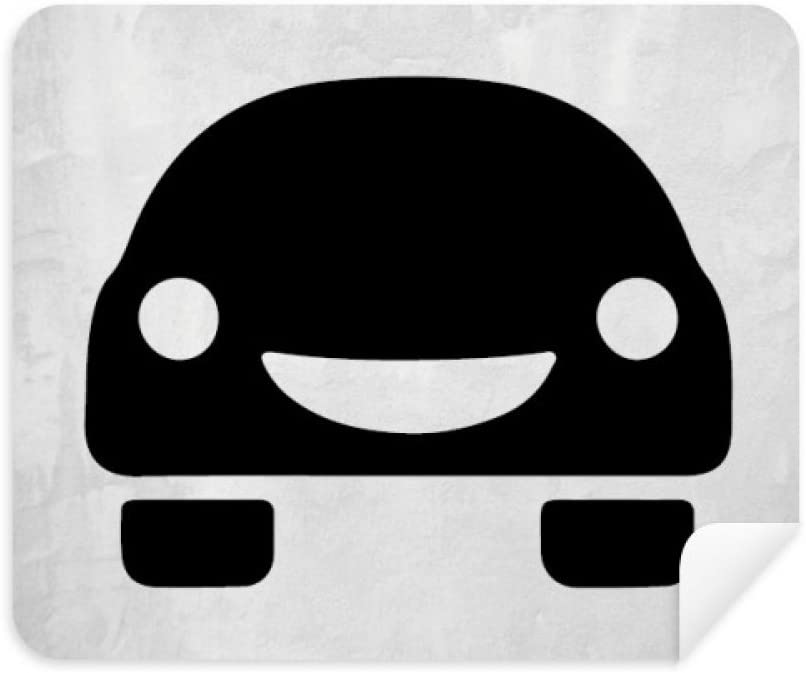 DIYthinker Smiling Faceenergy Vehicles Protect Environment Phone Screen Cleaner Glasses Cleaning Cloth 2Pcs Suede Fabric