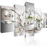 Bilder 200x100 cm - 3 Farben zur Auswahl ! XXL Format! Fertig Aufgespannt TOP Vlies Leinwand - 5 Teilig - Blumen Orchidee Abstrakt Wand Bild Bilder Kunstdrucke Wandbild b-A-0073-b-p 200x100 cm