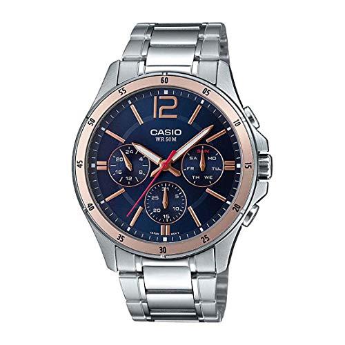 Casio Enticer Men Analog Blue Dial Men #39;s Watch MTP 1374D 2A2VDF A1745