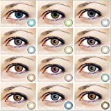 GBoon Women Multicolor Cute Charm and Attractive Contact Lenses