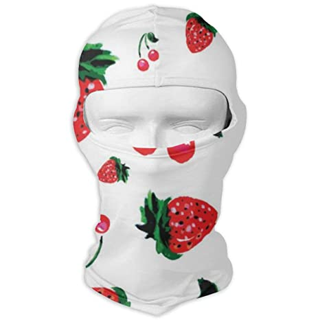 Hectwya Máscara Facial Fondo de Fresa Estilo de Acuarela Sombreros ...