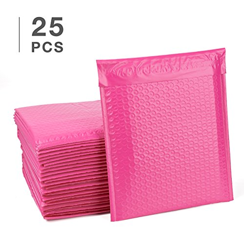 FU GLOBAL #2 Pink Bubble Mailers 8.5x12 Inch Padded Envelopes Pack of 25 (Bubble 12)