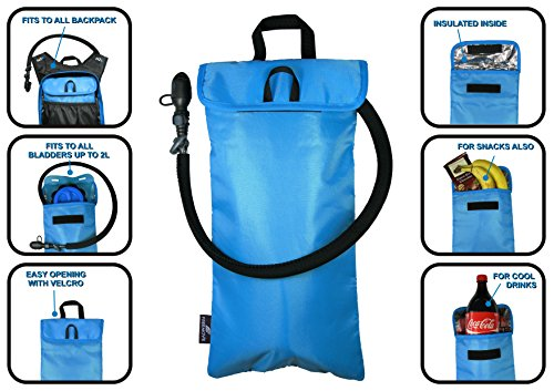 Hydration Pack Bladder & Cooler Bag Sleeve By FREEMOVE - Heavy Duty, BPA & Taste Free TPU - 2L/70oz Capacity - Lightweight & Leak Proof - For Backpacking, Hiking, Cycling & Outdoor Sports